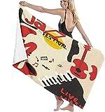 Toalla De Playa Microfibra,Skater Saltando sobre Una Patineta Toalla De Playa Ligera Viajes Familiares En Hoteles Natación Deportes De Fitness