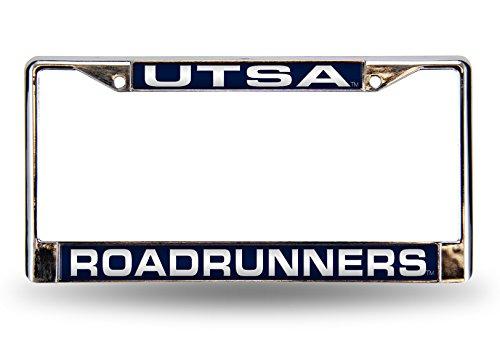 NCAA Rico Industries  Laser Cut Inlaid Standard Chrome License Plate Frame, UTSA Roadrunners