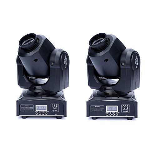 XPCLEOYZ Stage Lights Moving Head Light 8 Gobos 8 Colors 11 Channels 2PCS 60W Spotlight DMX 512 with Sound Activated for Wedding DJ Party Stage Lighting
