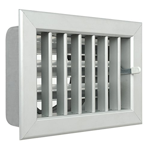 Ventilatierooster voor inbouw van open haarden 180 x 130 mm Aluminium