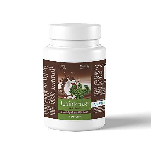 Arlak Gain Mantra Natural and Ayurvedic Weight Gainer Capsules for Men and Women 60 Capsules Pack of 1