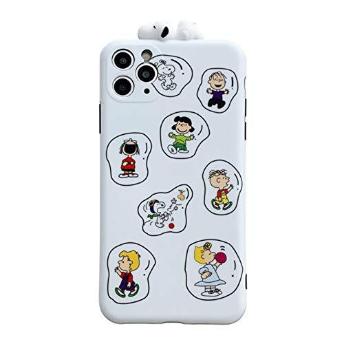 Compatible con iPhone 11pro/7/8plus, a prueba de golpes, suave mate, funda protectora 3D linda de dibujos animados, funda trasera para teléfono para niñas/niño A-iPhone XS