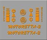 Ecoshirt U8-SVBW-QF6P Pegatinas Bicicleta Motoreta R303 Stickers Aufkleber Decals Autocollants Adesivi, Naranja