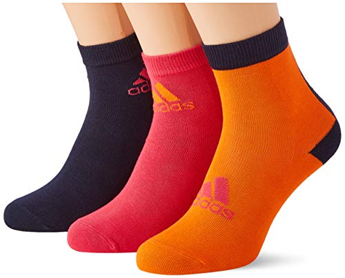 adidas LK Ankle S 3PP Socks, Unisex niños, Orange/Power Pink/Legend Ink, KM