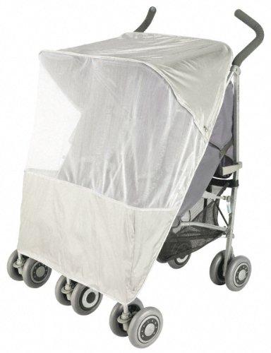 Maclaren Moskitonetz Twin – Zweiteiliges Schutznetz-Buggy-Zubehör. Passt auf alle Maclaren-Zwillingskinderwagen und die meisten Regenschirm-Buggys für zwei Kinder. Schützt vor Mücken und Insekten.