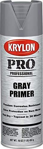 Krylon K05873 Professional All Surface Primer, Gray, 16 Ounce