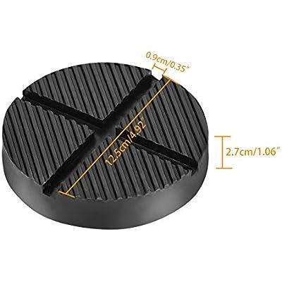 DEDC Floor Jack Rubber Pad Universal Jack Adapter Pinch Weld Side Frame Rail Protector Puck//Pad