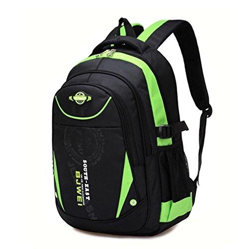YAAGLE Kind Rucksack Schulranzen für 8-13 jährige Jungen und Mädchen Rucksackhandtasche Grün