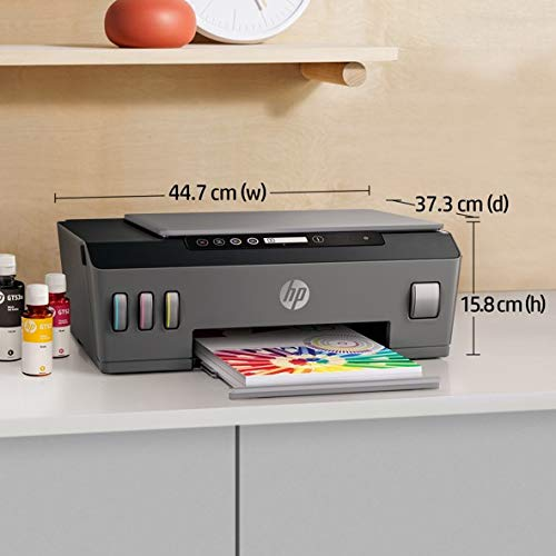 HP Smart Tank 500 Colour Printer, Scanner and Copier for Home/Office, High Capacity Tank (6000 Black and 8000 Colour) with Automatic Ink Sensor