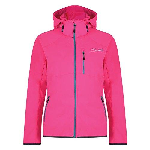 Dare2B Damen Tractile Softshell Jacken, Cyber Pink, Größe 46