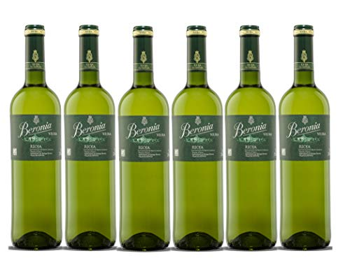 Beronia Beronia Viura D.O Rioja. Vino Blanco - 750 ml - 6 botellas x 125 ml - Total: 4500 ml