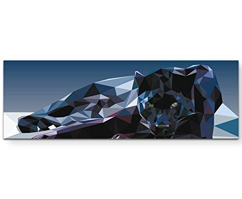 Leinwandbilder   Bilder Leinwand 120x40cm geometrischer Panther