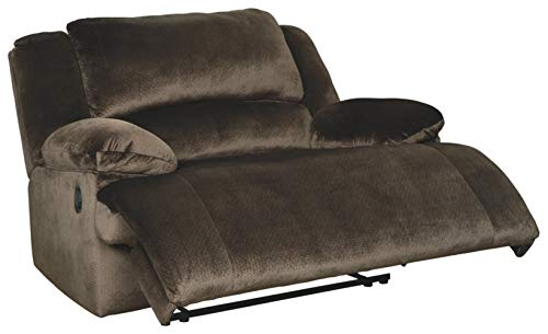 Signature Design by Ashley Clonmel Zero Wall Wide Seat Recliner Chocolate