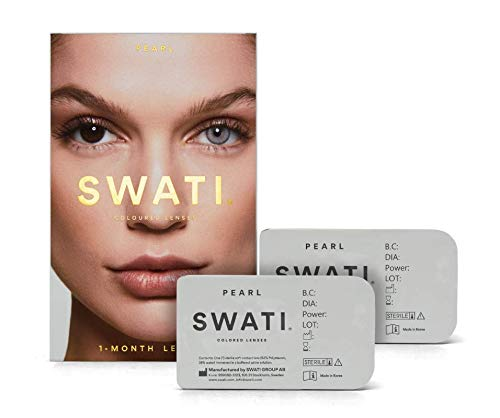Pearl (Grau) - 1 Monate Kontaktlinsen Farbig - SWATI Cosmetics Natürlich Aussehende Kontaktlinsen