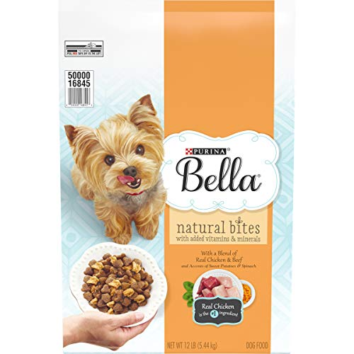 Bella Natural Small Breed Dry Dog Food, Natural Bites With Real Chicken & Beef - 12 lb. Bag