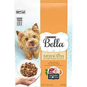 Bella Natural Small Breed Dry Dog Food, Natural Bites With Real Chicken & Beef – 12 lb. Bag