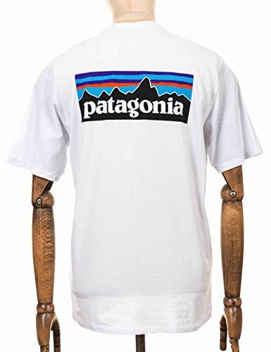 Patagonia, P-6 Logo Responsa-T Maillot Manches Courtes Homme, Blanc, M