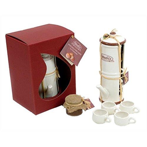 Caffettiera Napoletana in ceramica con 4 tazzine caffè