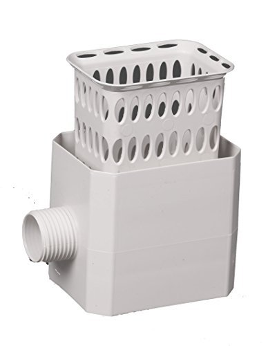 Flex-Drain 37043 Catch-A-Raindrop Rainwater Colander Kit, 3 x 4-Inch, White by Amerimax Home Products