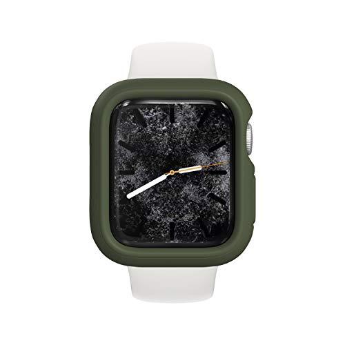 RhinoShield Coque Bumper Compatible avec Apple Watch Se & Séries 6/5 / 4 - [44mm] | CrashGuard NX - Protection Fine Personnalisable avec Technologie Absorption des Chocs - Vert Kaki