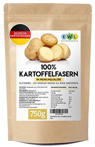 Kartoffelfasern Kartoffelmehl Kartoffelfasermehl I Aus deutschen Kartoffeln I Kontrolliert und abgefüllt in Deutschland Kartoffelfaser im wiederverschließbaren Beutel 750g