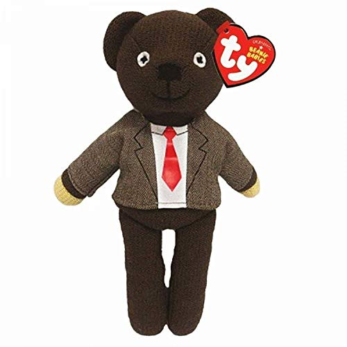 TY 46226 Mr Bean Teddy Jacket & Tie Plüsch, Braun