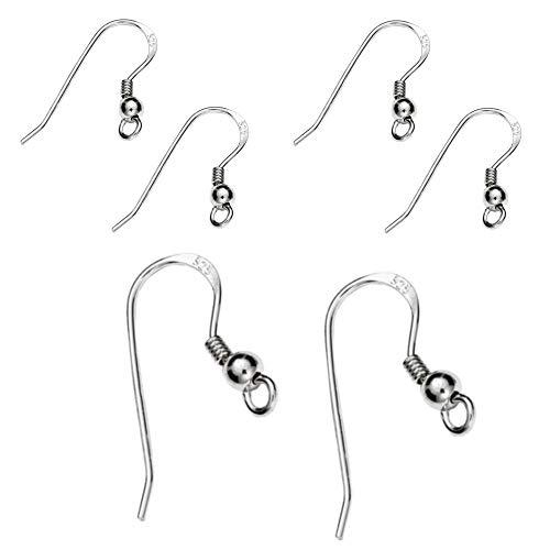 DIY925 My-Bead 3 Paar Ohrhänger Ohrhaken 18mm 925 Sterling Silber nickelfrei für die Schmuckherstellung basteln Fischhaken