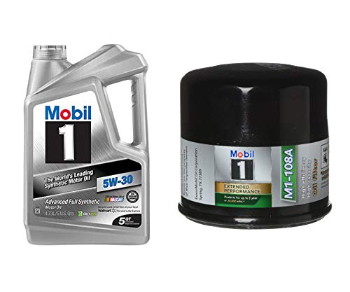Mobil 1 Advanced Full Synthetic Motor Oil 5W-30,...