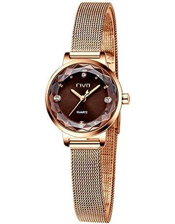 bea3e2d4f5 [チーヴォ]CIVO 腕時計レディース 女性時計薄型 ステンレスメッシュ防水ウオッチ シンプル watch for