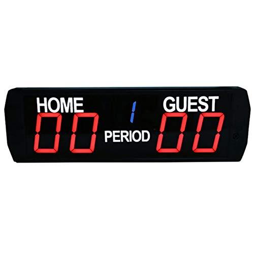 Ganxin LED-Digitale Anzeigetafel mit 5 Ziffern, für den Innenbereich, Basketball-/Fußball-Spielstoppuhr, Größe:618 mm x 190 mm x 45 mm.