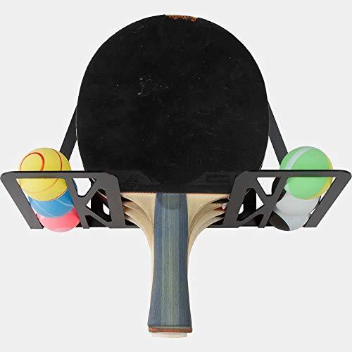 Soporte palas ping pong / tenis de mesa (100% Acero) (Negro)
