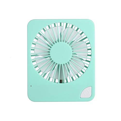 HCDMRE Mano Held Fan, Mini Elettrico Portatile Tavolo scrivania Ventilatore di Raffreddamento, USB Ricaricabile Batteria Mano Ventilatore dotare con Corda Mano per Home Office Outdoor Viaggi, Green