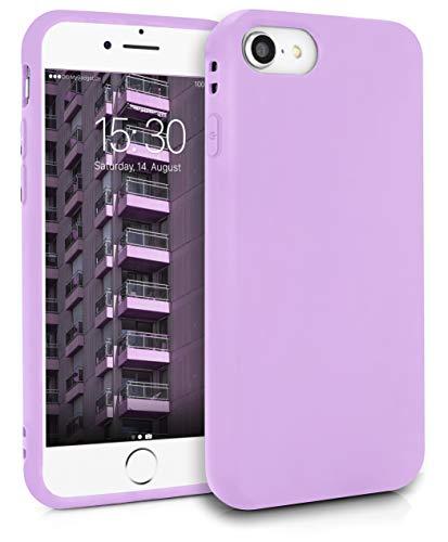 MyGadget Friendly Pocket Custodia TPU per Apple iPhone 7/8 / SE 2020 - Case Morbida Bordi Rinforzati – Cover Silicone Antiurto e AntiGraffio - Lilla