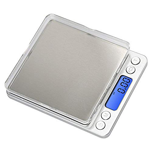 Anferstore 0.1 Gram Precision Multifunction Kitchen Cooking and Jewelry Stainless Steel Scale, Electronic Digital Balance Weight Pocket Scale 3000g-Silver(Kitchen Scale)