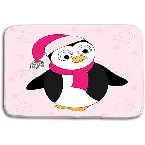 N/A Keuken Vloerbad Entree Matten Tapijt Illustratie Cartoon Pinguïn Sjaal Hoed Cartoon Print Kids Scrapbook Papier Inpakpapier 50x80CM