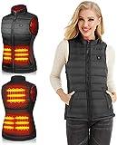 Trieskull Chaleco Calefactor para Mujer Chaqueta de Abrigo de calefacción eléctrica Ropa de Abrigo para Invierno (sin batería) (S)