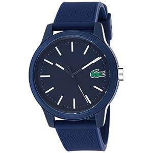 Lacoste Homme Analogique Quartz Montre avec Bracelet en Silicone 2010987 3 Bijoutier Boutique Mouvementà 3 yeux Épaisseur du boîtier 11,1mm Cadran bleu
