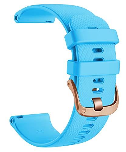 Correa de reloj deportiva de 20 mm para Vivomove 3 Wheamband, banda de reemplazo de silicona para Gear S2 Classic/Forerunner 645 reloj inteligente 10688 (Band Color : Light Blue, Size : S)