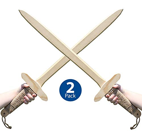 Product Image of the Adventure Awaits! - 2-Pack - Wooden Toy Sword - Handmade - Lightweight Wood Toy...