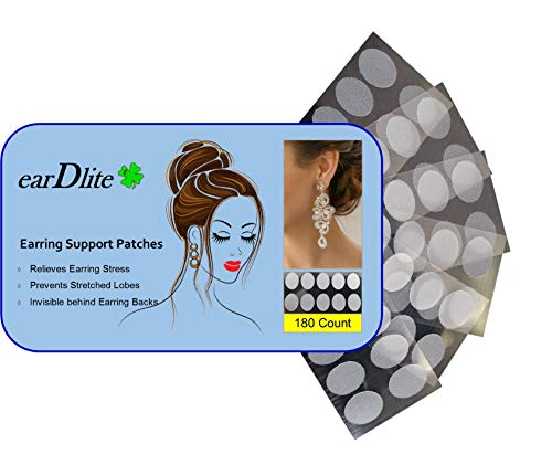 Earring Support Patches Relieves Ear Lobes (180 Count)