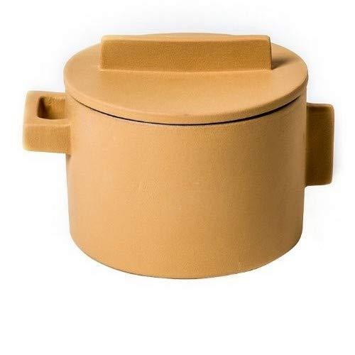 Sambonet Terra.Cotto - Pentola per Carne, in Ceramica, 16,5 cm, Colore: Terracotta Gialla