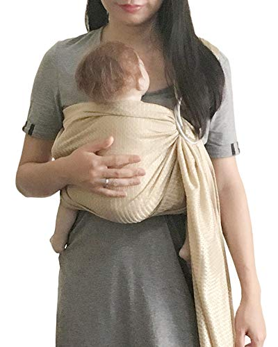 Vlokup Baby Water Ring Sling Carrier | Lightweight Breathable Mesh Baby Wrap for Infant, Newborn, Kids and Toddlers | Perfect for Summer, Swimming, Pool, Beach | Great for Dad Too Champagne