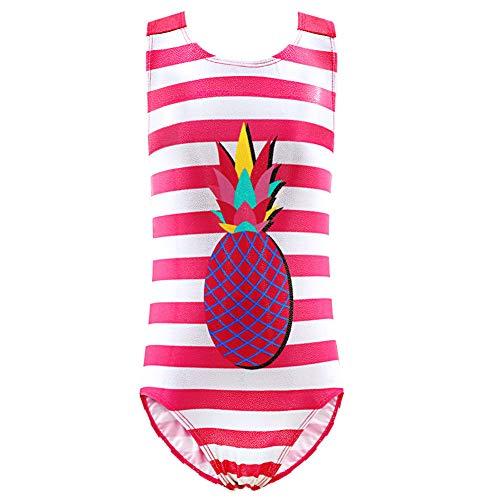 Cestbon Mädchen Badeanzug Einteiler Badeanzug Bademode Kinder Beachwear Baby Schwimmenanzug-4-14 Jahre,Rosa,116/122cm