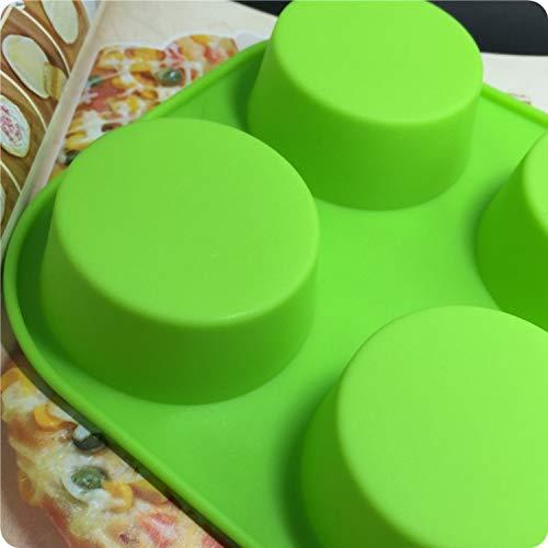 1 piece Custom all kinds of handmade soap silicone cake mold 6 hole cylinder handmade soap mold colour random
