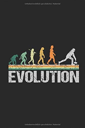 Curling Eisstockschiessen Evolution Affen zum Stockschützen im Retro Look Notizbuch: eistockschießen eisschießen Notieren Rechenheft Liniert Journal ... Geschenk für stocksportler stockschütze
