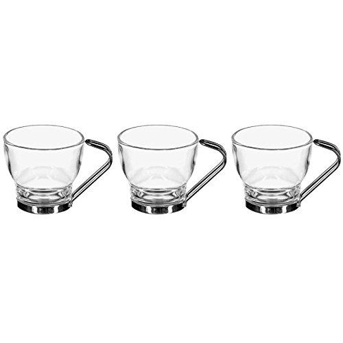 Secret de Gourmet - Lot de 3 Tasses en Verre 11cl Transparent