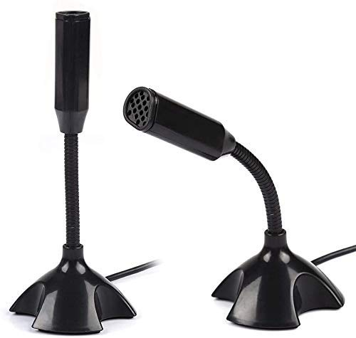 USB Studio Microphone Voice Speech Stand for PC Laptop Desktop, Noise Cancelling USB Microphone for Windows and Mac, Professional, Plug and Play Mic
