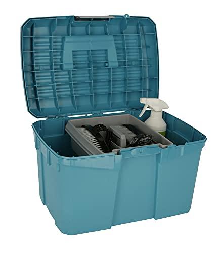 Kerbl 328267 Putzbox Siena mit herausnehmbaren Einsatz, capriblau - 3