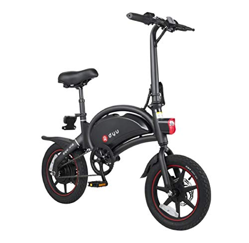 MIAGS DYU D3+ Smart Electric Pedal Folding Smart Bikes for Adults Teenagers, Comfort Bikes 240W Aluminum Alloy Bicycle 10Ah Lithium-Ion Battery