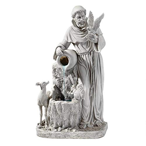 Outdoor Living and Style 39' Life Giving St.Francis Water Fountain
